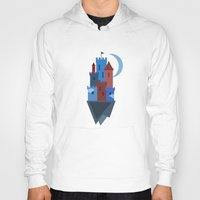 castle in the sky Hoodies featuring Sky Castle by Becky Gibson