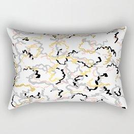 Mikki - gold pastel rose pink abstract painting brushstrokes minimal modern urban hipster street Rectangular Pillow