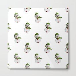 Snowman Pattern (NEW) Metal Print