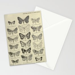 Vintage Butterfly Print - Lepidoptera from China, Japan and Korea (1897) 2 Stationery Cards