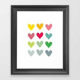 Heart pattern art  Framed Art Print