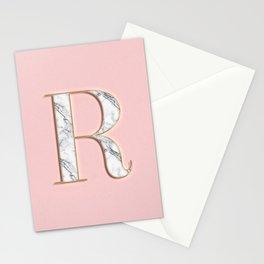 R letter monogram Stationery Cards