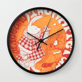 Alice In Orange Wall Clock