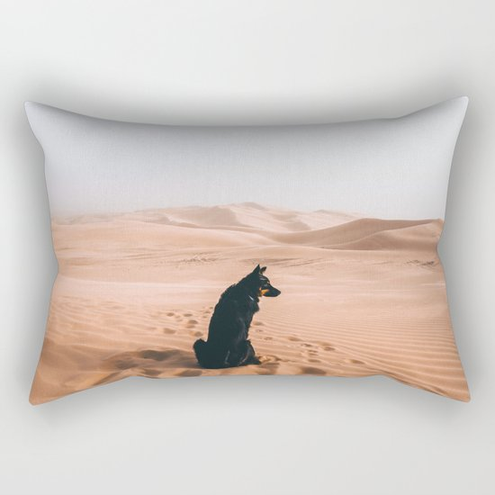 Find your way back home | Imperial Sand Dunes, California Rectangular Pillow