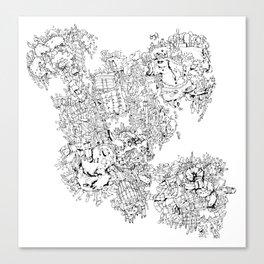 """traveller """"xyz"""" Canvas Print"""