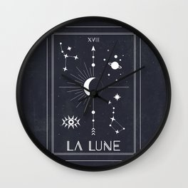 The Moon or La Lune Tarot Wall Clock
