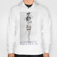 burlesque Hoodies featuring Burlesque by Frances Roughton