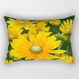 GOLDEN YELLOW  FLOWERS  GARDEN Rectangular Pillow