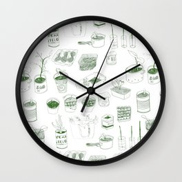 Cover, CONTAIN, Compost - 2 of 3 Wall Clock