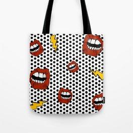Pop Lips Tote Bag