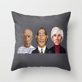 Great Artists Throw Pillow