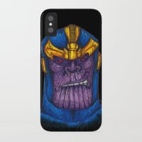 thanos iPhone & iPod Cases featuring Thanos by AgrovatedArt
