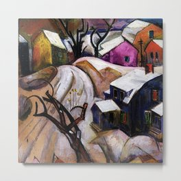 Bach Chord - Winter in a Small Town landscape painting William Sommer Metal Print