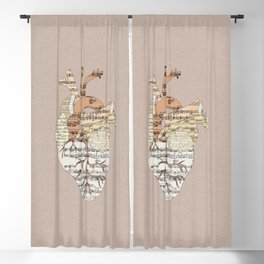 Sound Of My Heart Blackout Curtain