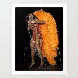 Ⓢ.в. ⑦⑧ Ⓜⓘⓛⓛⓨ - Tina Anna Mae Bullock Turner - Society6 Online Icon - Shop Music Photography V56 Art Print