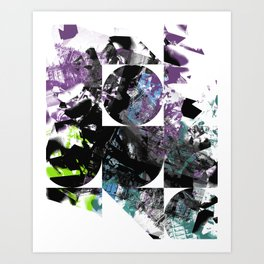 Colors and Shapes Art Print