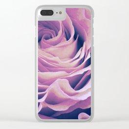 Le pétale de rose pourpre Clear iPhone Case