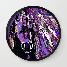 HORSE WILD AND PRETTY OIL PAINTNG Wall Clock