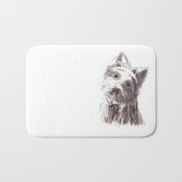 Bon Bon - the cat-like dog Bath Mat