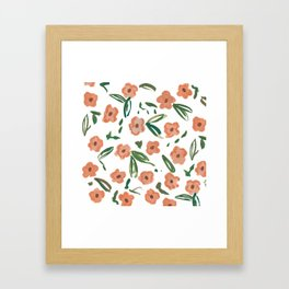 Live Simply Floral Pattern Framed Art Print