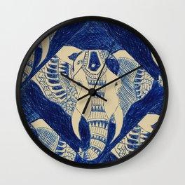Elephant Doodle #1 Wall Clock