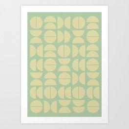 Burano in Lime Art Print
