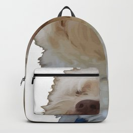Grumpy Terrier Dog Face Backpack