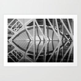 City of Arts and Sciences II by CALATRAVA architect Art Print