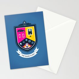 The Game is On! - blue version Stationery Cards