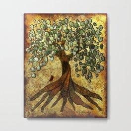 Twisted Oak Tree Metal Print