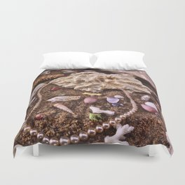 Pearls In The Sand Duvet Cover