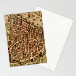 Vintage Map of Antwerp Belgium (1572) Stationery Cards