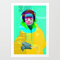 beastie boys Art Prints featuring Gioconda Music Project · Beastie Boys · Mike D. by Marko Köppe