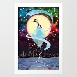 Full Moon Over Republic City Art Print