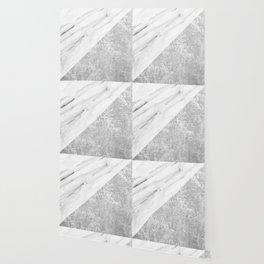 Grey / White Marble Wallpaper