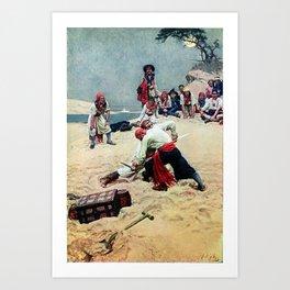 Howard Pyle Who Shall be Captain Art Print