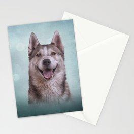 Drawing Husky dog 2 Stationery Cards