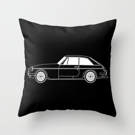 UK Sports Car Coupe Outline Throw Pillow