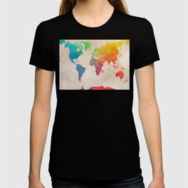 world map 21 #map #maps #world T-shirt