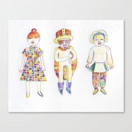 Shimokitazawa Trio Canvas Print