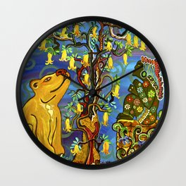 """Xochipilli's Golden Child"" by ICA PAVON Wall Clock"