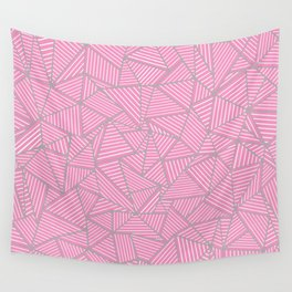 Ab Out Double Pink and Grey Wall Tapestry