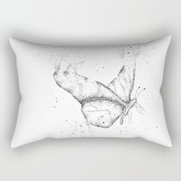 Butterfly Black and White Art Rectangular Pillow