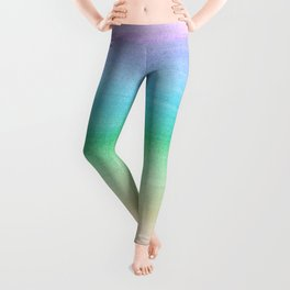 Pastel Unicorn Rainbow Watercolor Dream #1 #painting #decor #art #society6 Leggings