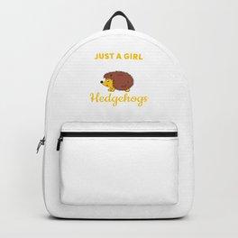 Hedgehog design for Women & Girls Backpack