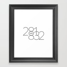 OUTER TOWNERS Framed Art Print