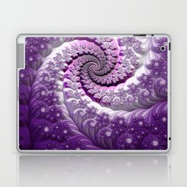 Beautiful Bloom of Lilacs Lavender Fractal Spiral Laptop & iPad Skin