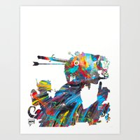 tank girl Art Prints featuring Tank Girl by Art By MOP$