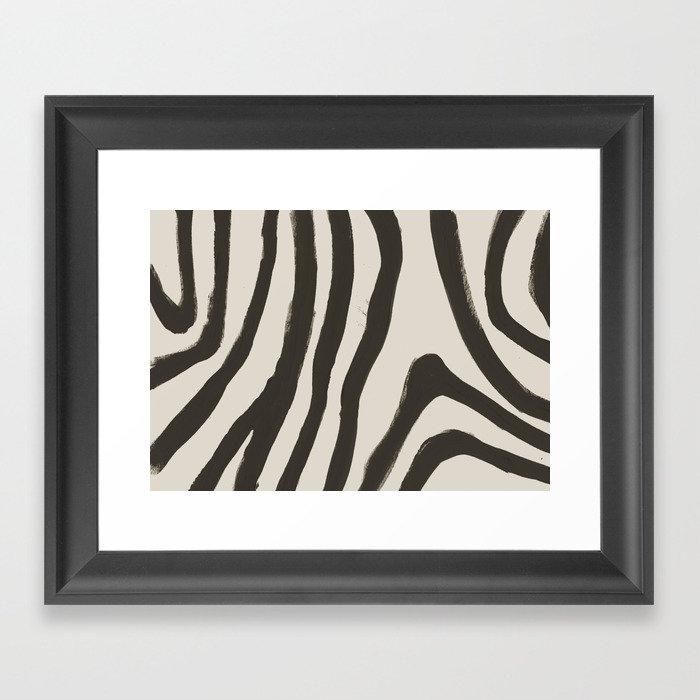 Painted Zebra Gerahmter Kunstdruck