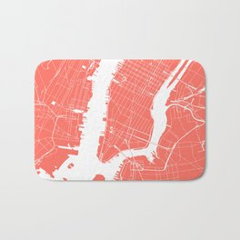 Living Coral New York City NYC Map II Bath Mat